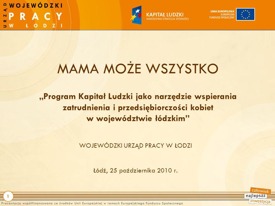 1 WOJEWÓDZKI URZĄD PRACY W ŁODZI Łódź, 25 października 2010 r.