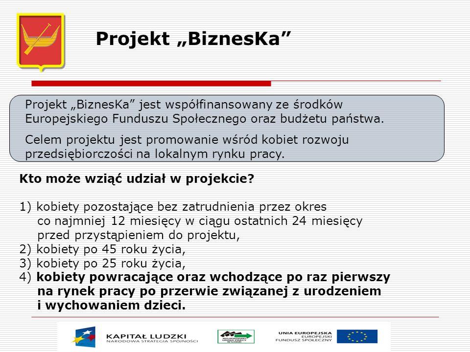Projekt BiznesKa jest współfinansowany ze środków Europejskiego Funduszu Społecznego oraz budżetu państwa. Celem projektu jest promowanie wśród kobiet