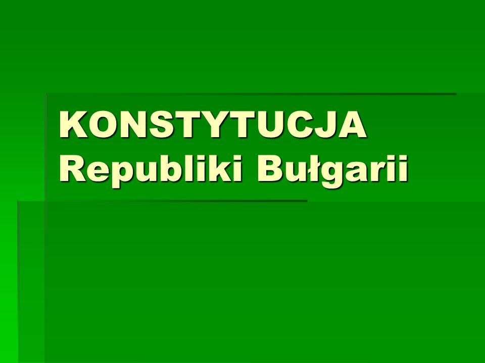 KONSTYTUCJA Republiki Bułgarii