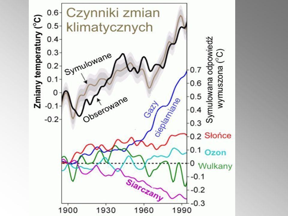 1. Naturalne zachwiania w klimacie i środowisku naturalnym Ziemi: Klimat nie jest stabilny sam w sobie (dotyczy to ilości opadów, średniej temperatury