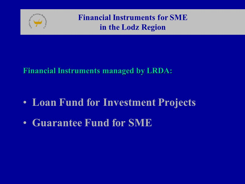 The Loan Fund for investment 1996 The Loan Fund for investment was established on the basis of the state budget reserve for the support of regional restructuring programmes.