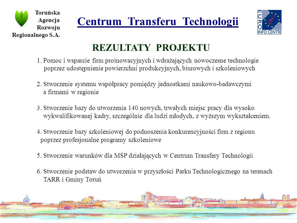 Toruńska Agencja Rozwoju Regionalnego S.A. Centrum Transferu Technologii 1.