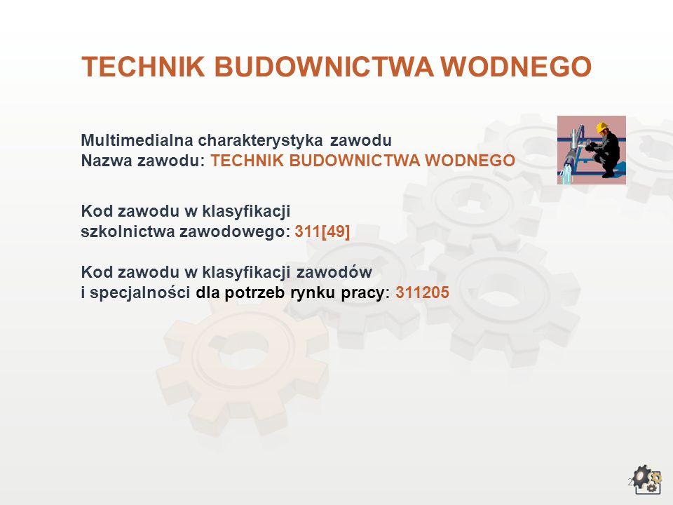 TECHNIK BUDOWNICTWA WODNEGO wersja dla gimnazjum i szkół ponadgimnazjalnych