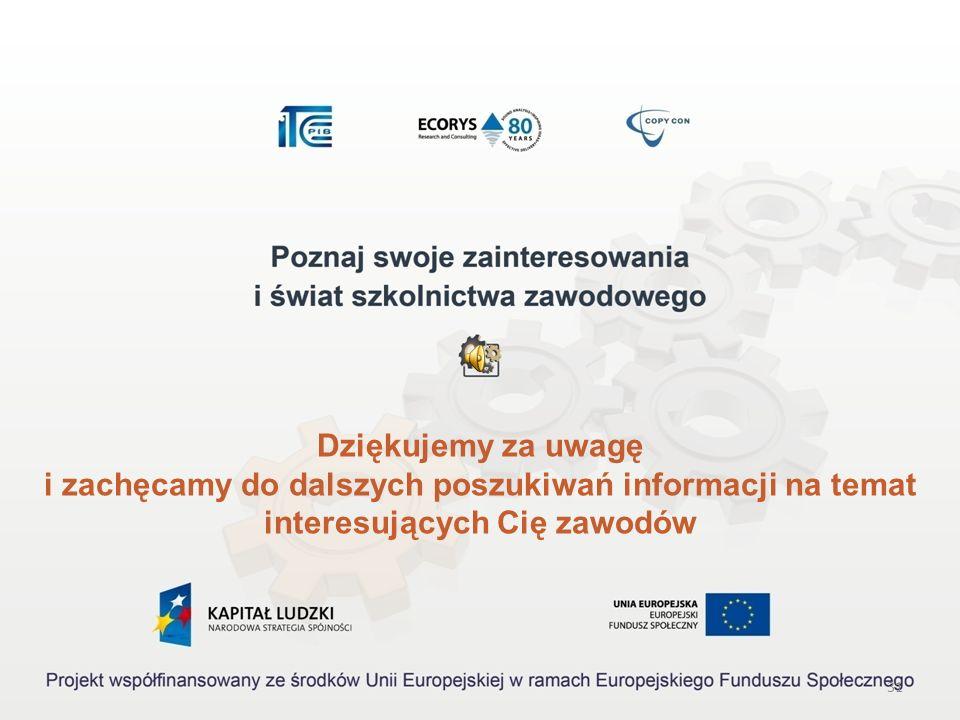 30 Akty prawne: 1.Rozporządzenie Ministra Pracy i Polityki Społecznej z dnia 27 kwietnia 2010 r. w sprawie klasyfikacji zawodów i specjalności na pot