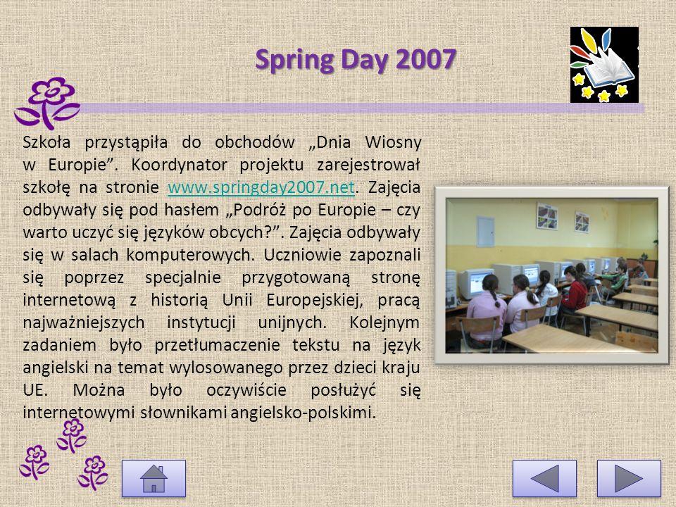 Projekt w ramach programu Socrates-Comenius Nawiązaliśmy współpracę ze szkołami w Rumunii, Turcji i Bułgarii.
