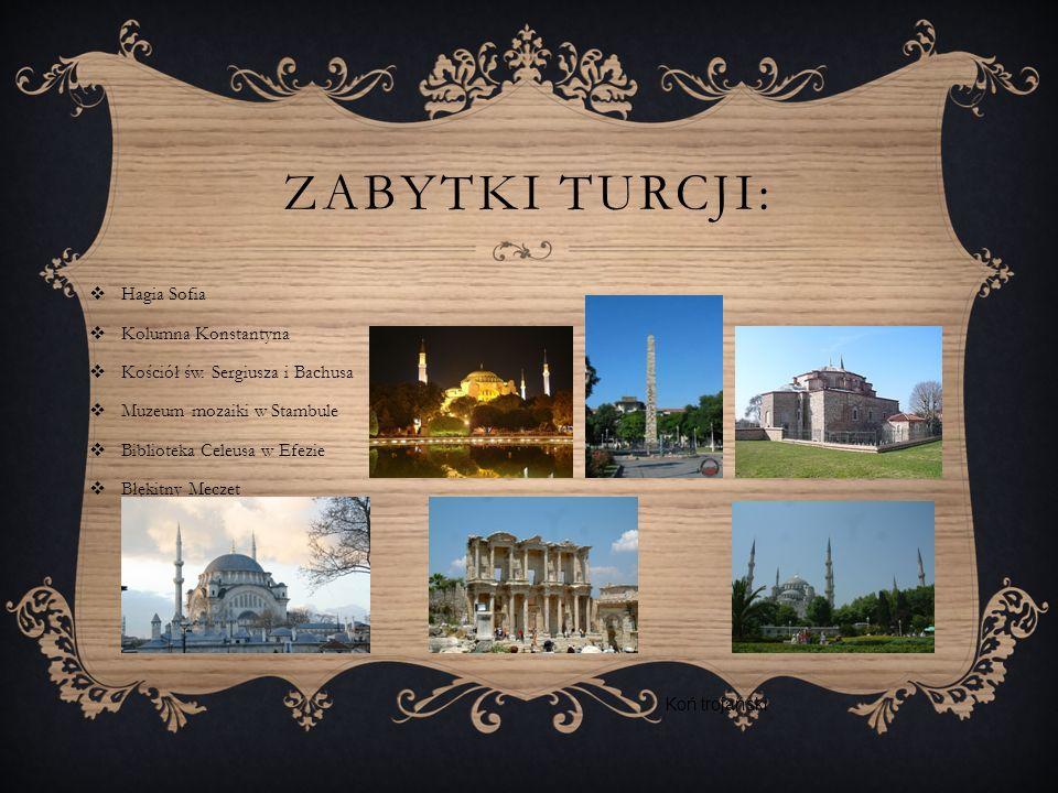 ZABYTKI TURCJI: Hagia Sofia Kolumna Konstantyna Kościół św.