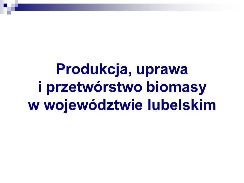Produkcja, uprawa i przetwórstwo biomasy w województwie lubelskim