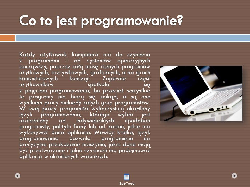 Każdy użytkownik komputera ma do czynienia z programami - od systemów operacyjnych począwszy, poprzez całą masę różnych programów użytkowych, rozrywkowych, graficznych, a na grach komputerowych kończąc.
