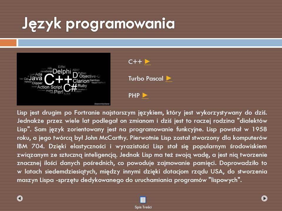 Lisp jest drugim po Fortranie najstarszym językiem, który jest wykorzystywany do dziś. Jednakże przez wiele lat podlegał on zmianom i dziś jest to rac