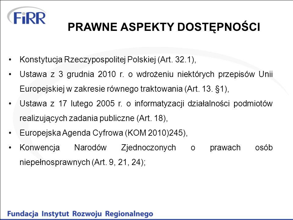 Konstytucja Rzeczypospolitej Polskiej (Art.32.1), Ustawa z 3 grudnia 2010 r.