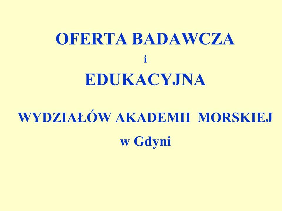 Oferta edukacyjna wydziału Oferta edukacyjna wydziału 1.