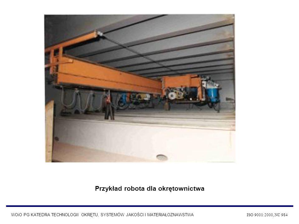 Przykład robota dla okrętownictwa WOiO PG KATEDRA TECHNOLOGII OKRĘTU, SYSTEMÓW JAKOŚCI I MATERIAŁOZNAWSTWA ISO 9001:2000, NC 984