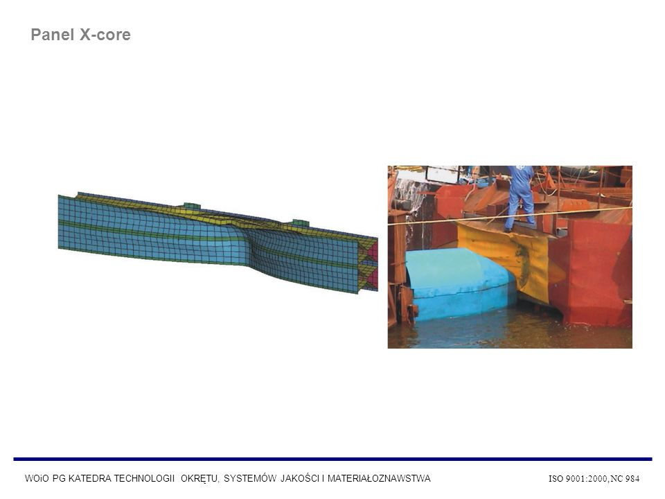 WOiO PG KATEDRA TECHNOLOGII OKRĘTU, SYSTEMÓW JAKOŚCI I MATERIAŁOZNAWSTWA ISO 9001:2000, NC 984 Panel X-core