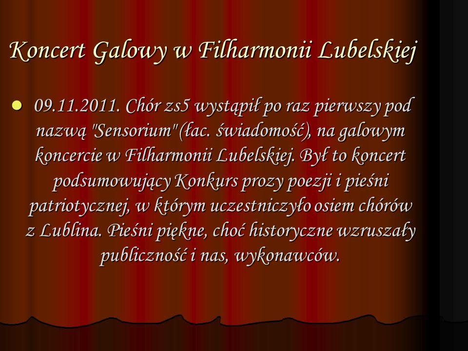 Koncert Galowy w Filharmonii Lubelskiej 09.11.2011.