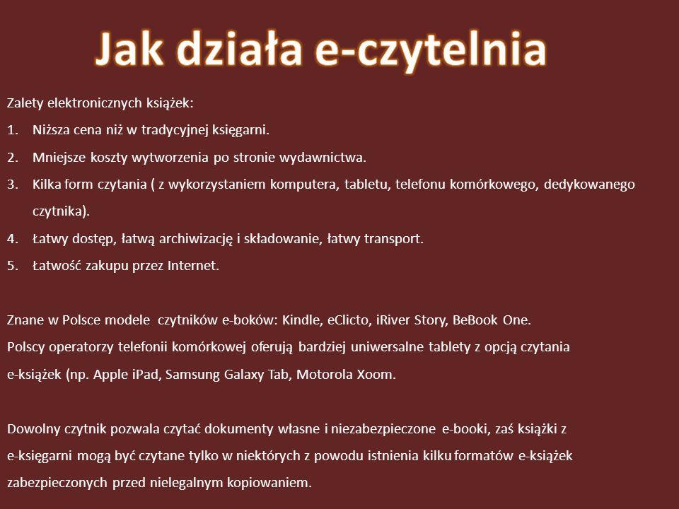 TXT – zwykły plik tekstowy, w którym żadne elementy nie są wyróżnione, cały tekst wygląda tak samo, niektóre urządzenia mogą źle wyświetlać polskie znaki narodowe.