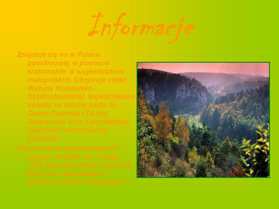 Informacje Znajduje się on w Polsce południowej, w powiecie krakowskim w województwie małopolskim. Obejmuje część Wyżyny Krakowsko- Częstochowskiej. N