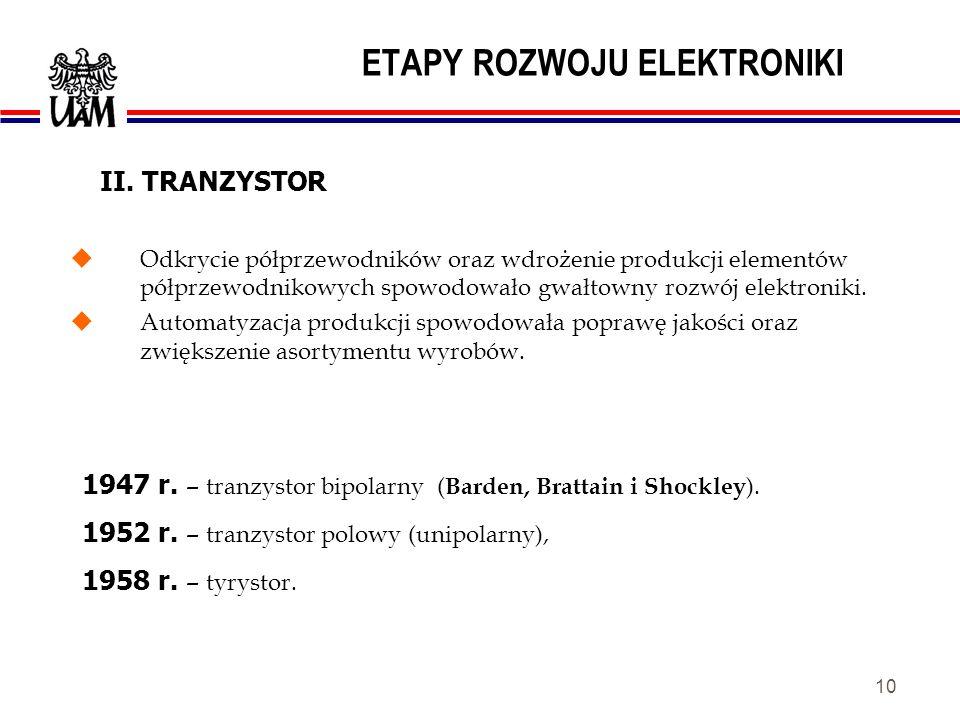 9 ETAPY ROZWOJU ELEKTRONIKI EL84 Trioda Lee DeForesta z 1906 r.