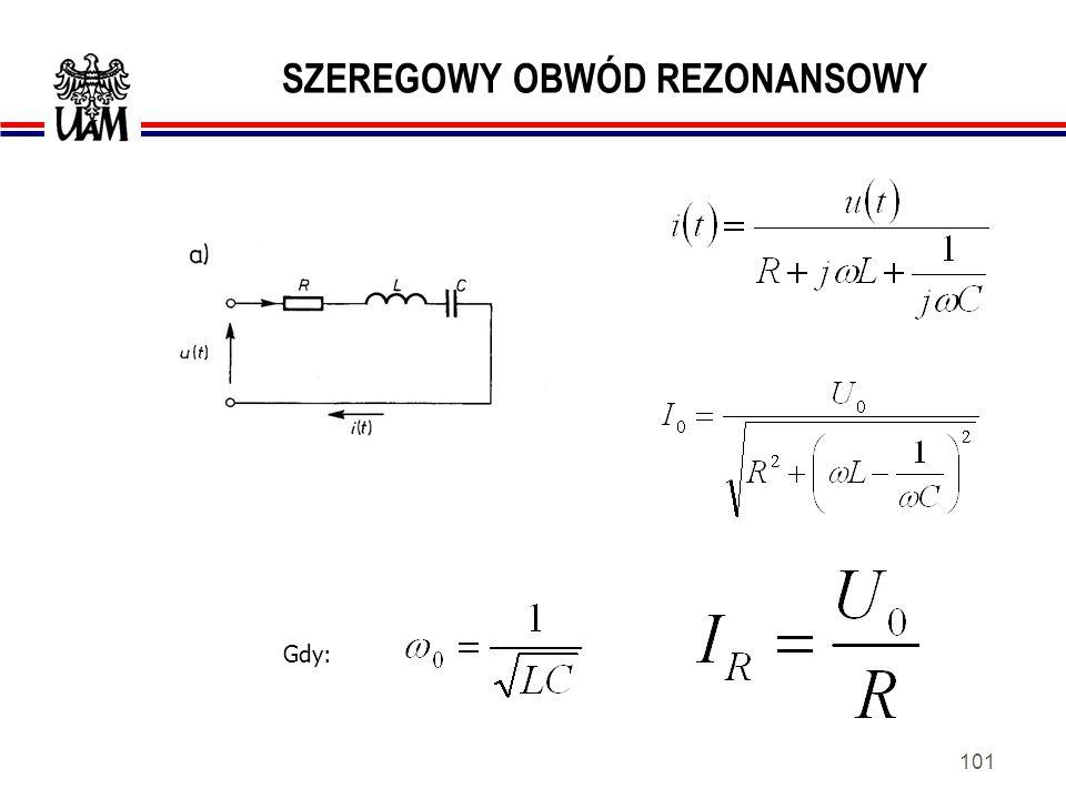 100 DOLNOPRZEPUSTOWY FILTR RC Zastosowania: -w układach kształtowania charakterystyk częstotliwościowych, -jako przesuwnik fazowy, -w układach formowa