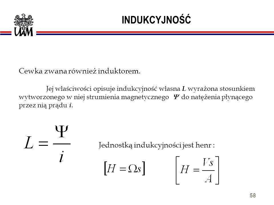 57 POJEMNOŚĆ ELEKTRYCZNA Jednostką pojemności elektrycznej jest FARAD – [ F ].
