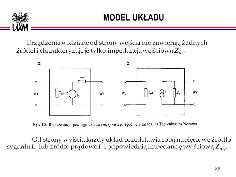 85 ZASADY THEVENINA I NORTONA umożliwiają analizowanie nawet najbardziej skomplikowanych układów elektronicznych za pomocą prostych układów zastępczyc