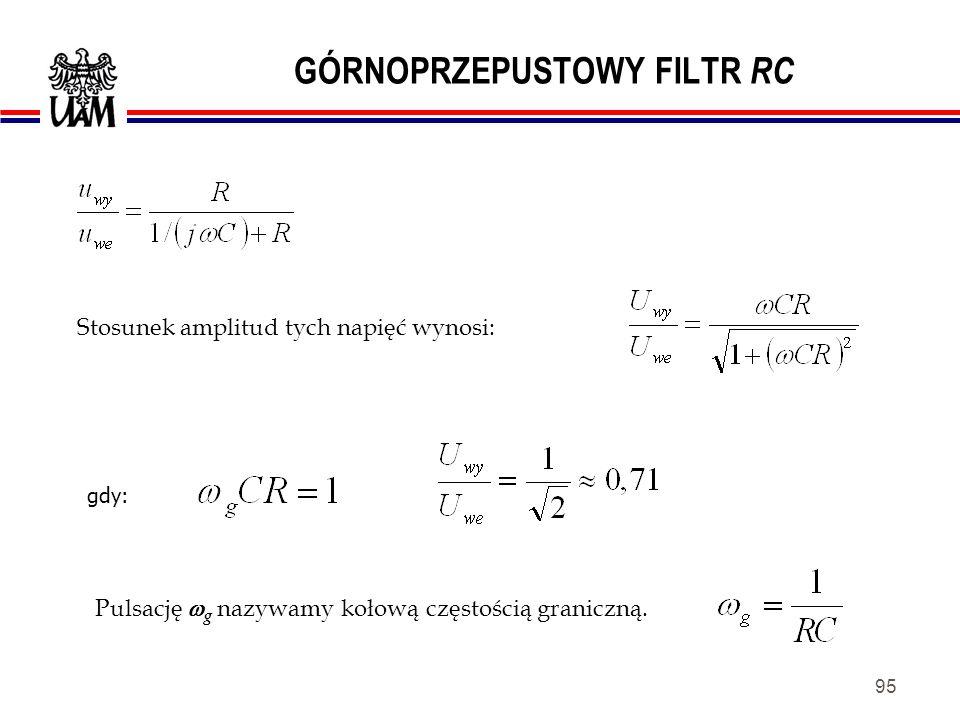 94 GÓRNOPRZEPUSTOWY FILTR RC