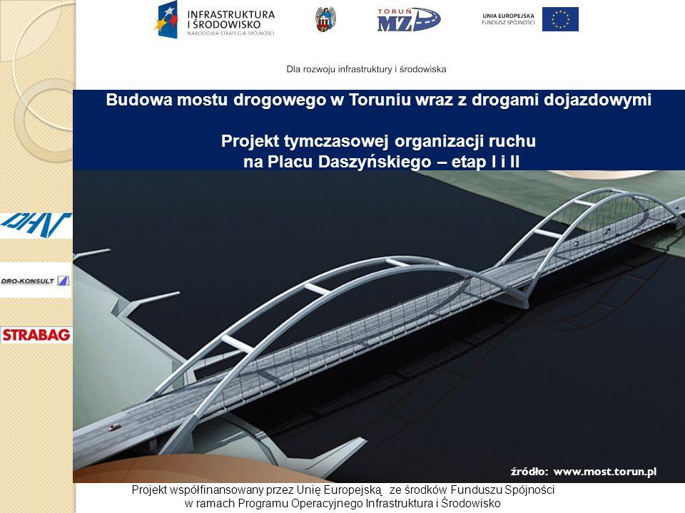 źródło: www.most.torun.pl Budowa mostu drogowego w Toruniu wraz z drogami dojazdowymi Projekt tymczasowej organizacji ruchu na Placu Daszyńskiego – et