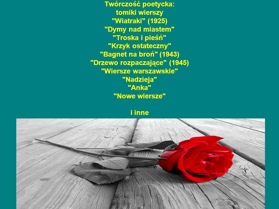 Twórczość poetycka: tomiki wierszy