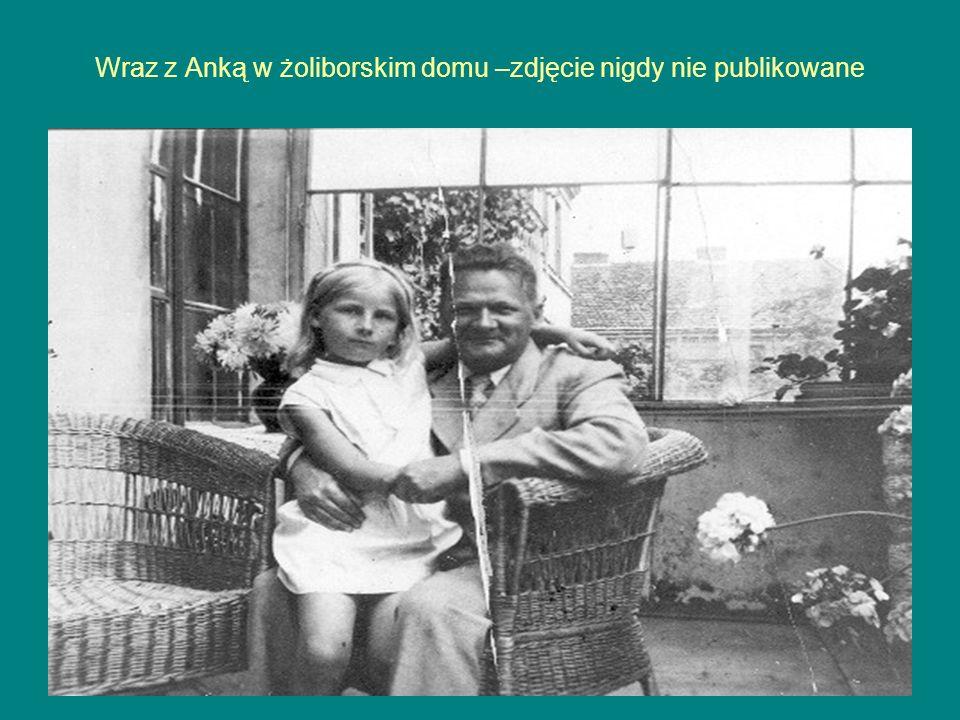 Wraz z Anką w żoliborskim domu –zdjęcie nigdy nie publikowane
