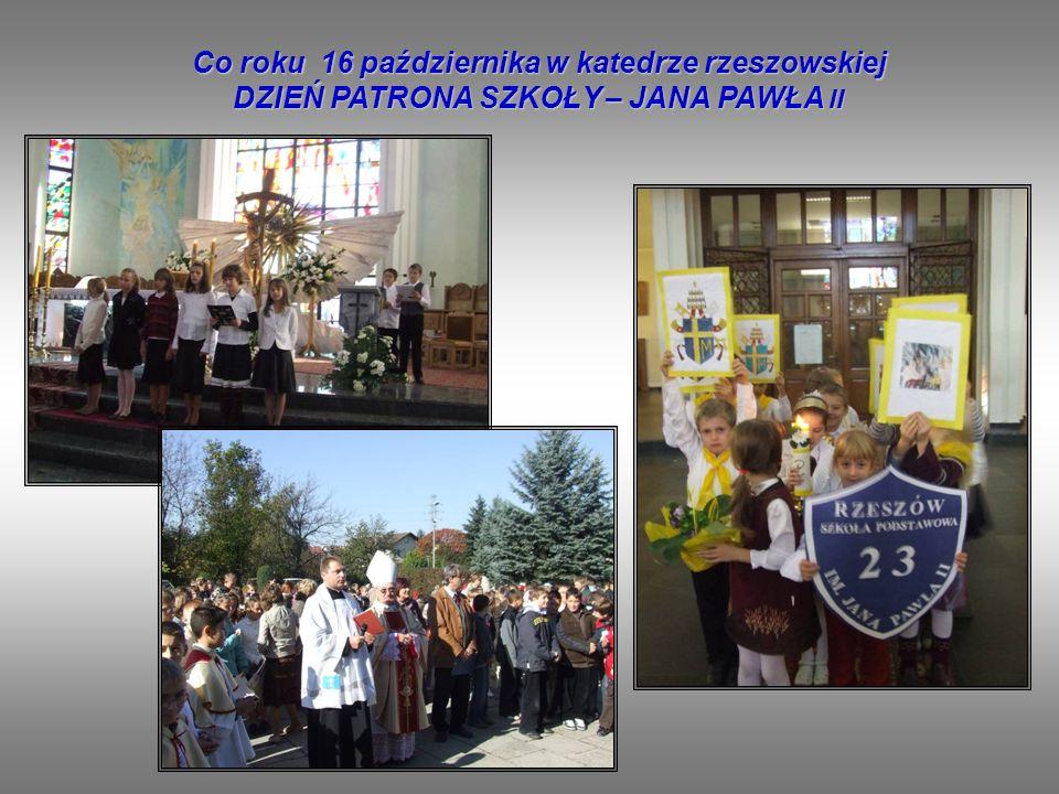 Co roku 16 października w katedrze rzeszowskiej DZIEŃ PATRONA SZKOŁY – JANA PAWŁA II