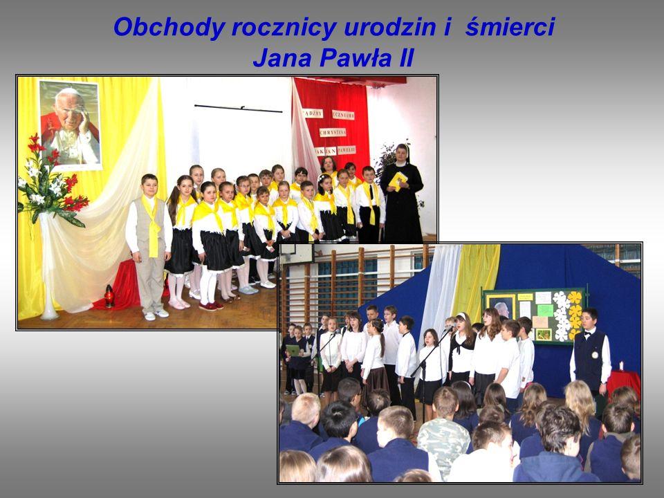 Lubimy prezentować swoje umiejętności podczas uroczystości szkolnych.