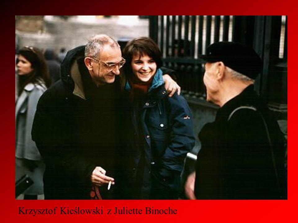 Krzysztof Kieślowski z Juliette Binoche