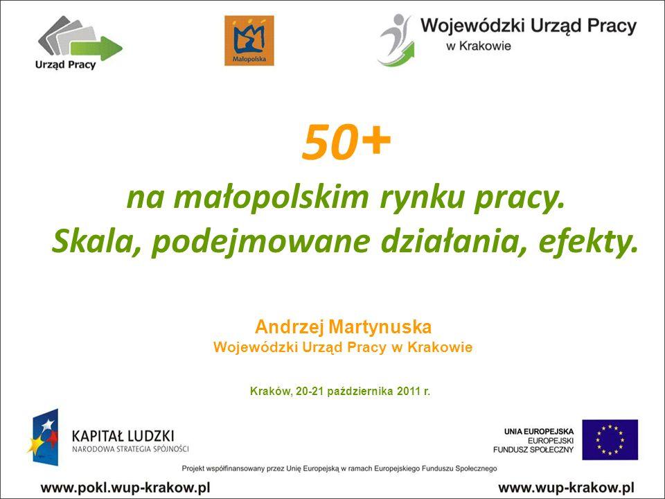 Andrzej Martynuska Wojewódzki Urząd Pracy w Krakowie 50 + na małopolskim rynku pracy.