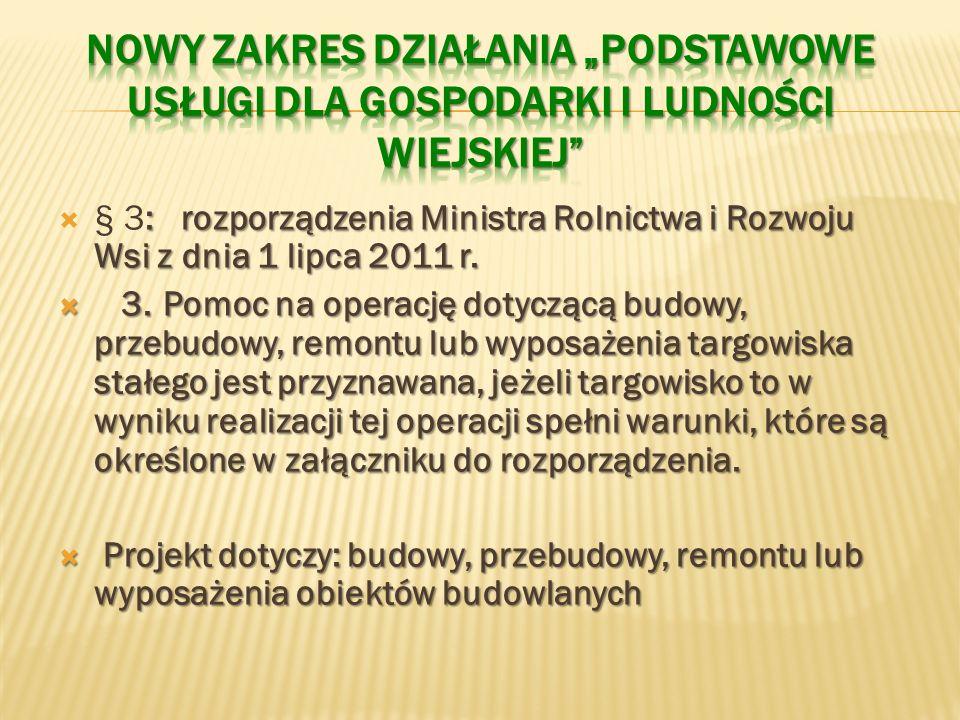 : rozporządzenia Ministra Rolnictwa i Rozwoju Wsi z dnia 1 lipca 2011 r.