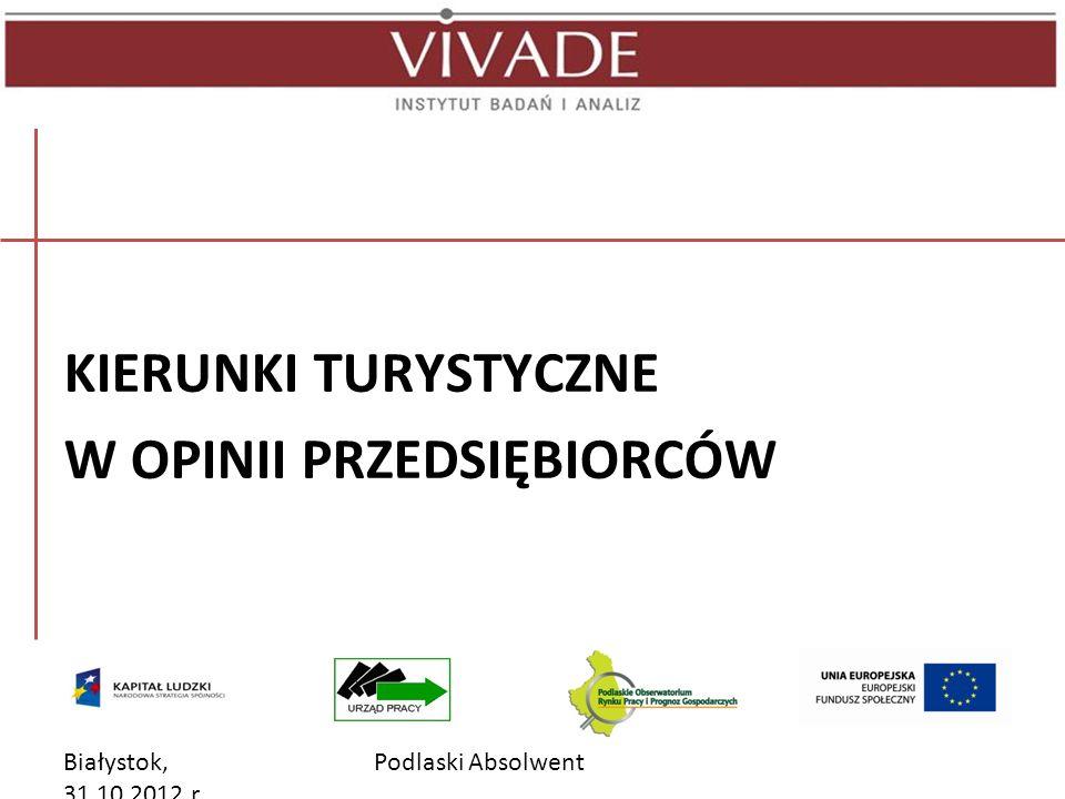 Białystok, 31.10.2012 r. Podlaski Absolwent KIERUNKI MEDYCZNE