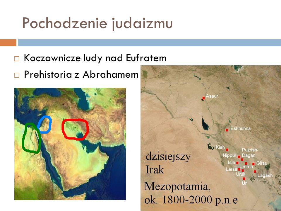 Pochodzenie judaizmu Koczownicze ludy nad Eufratem Prehistoria z Abrahamem