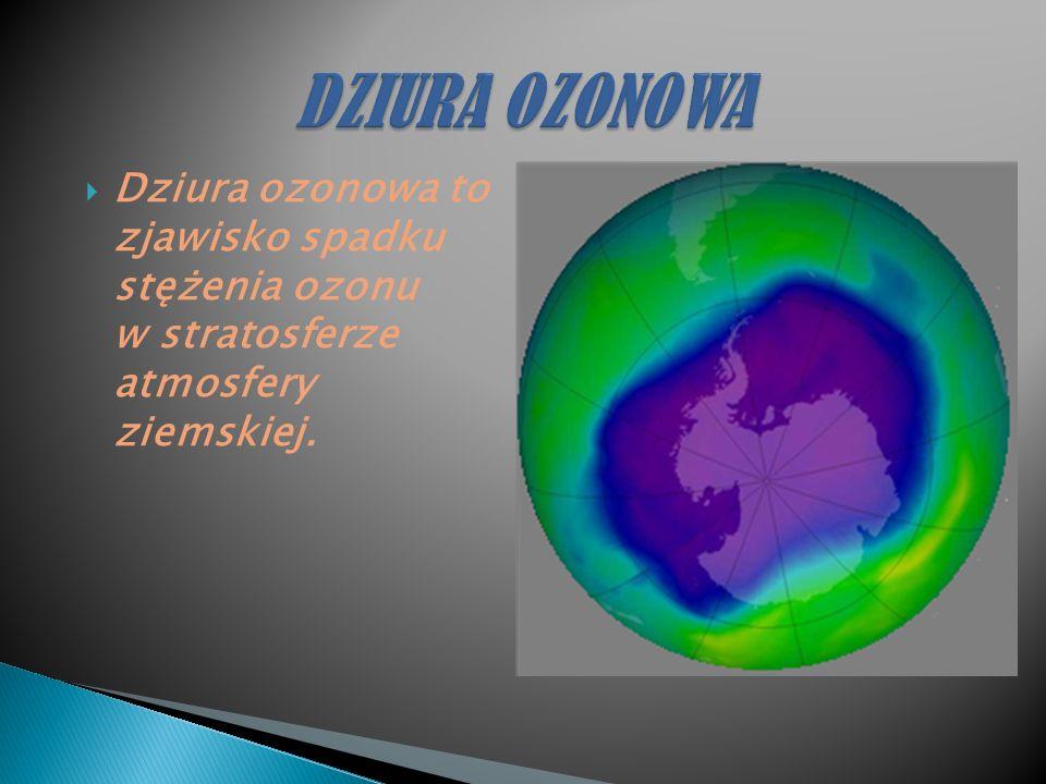 Dziura ozonowa to zjawisko spadku stężenia ozonu w stratosferze atmosfery ziemskiej.