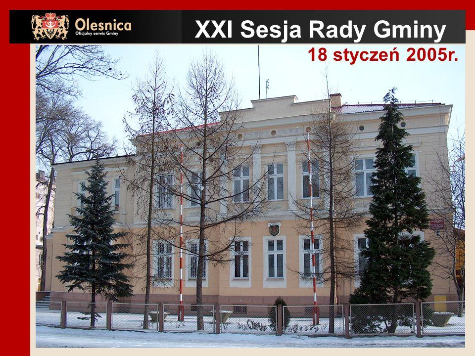 XXI Sesja Rady Gminy 18 styczeń 2005r.