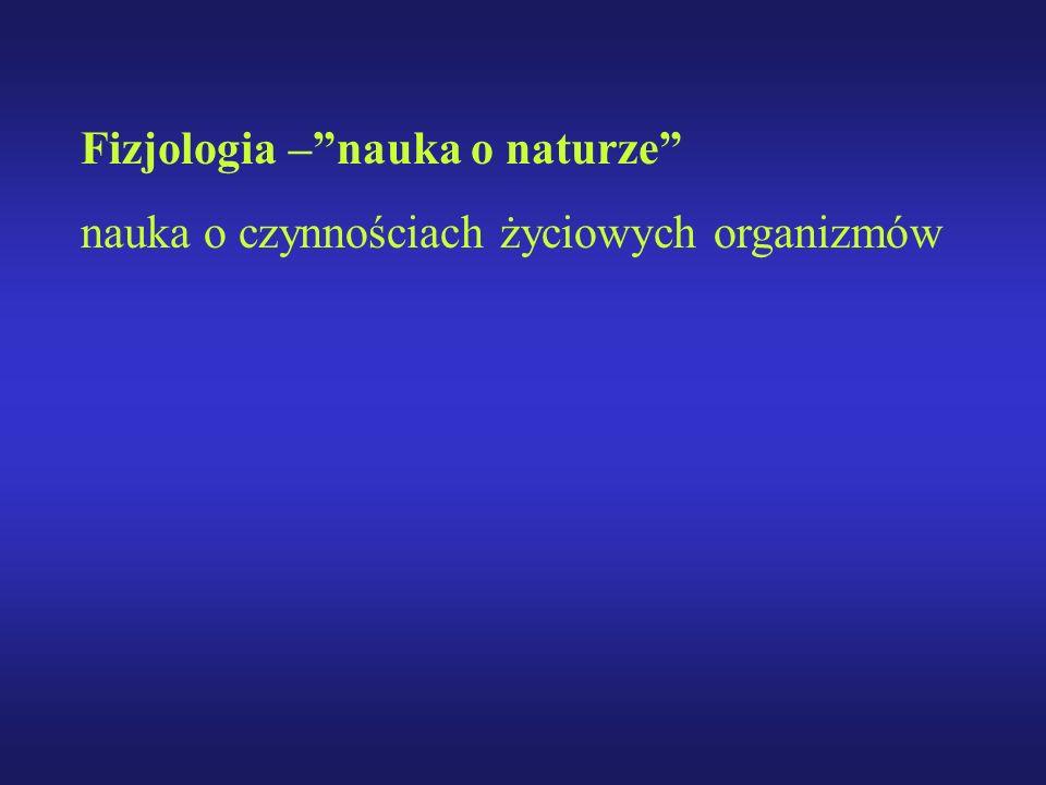Fizjologia –nauka o naturze nauka o czynnościach życiowych organizmów