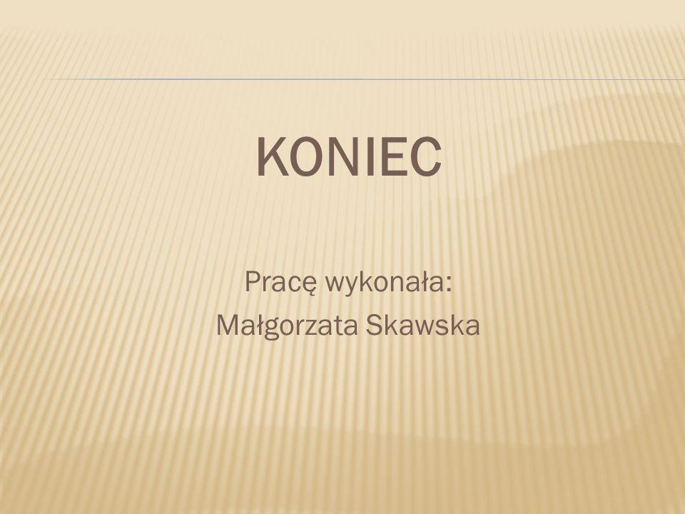 KONIEC Pracę wykonała: Małgorzata Skawska