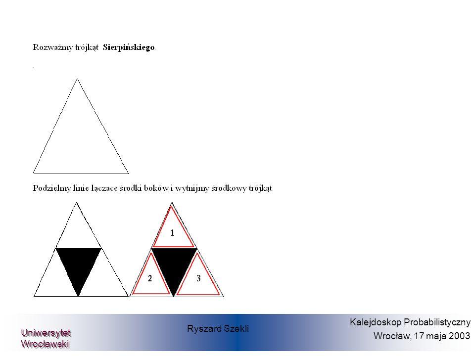 Cel: Wyznaczenie właściwej ceny opcji W chwili realizcji (t=T): Prof.