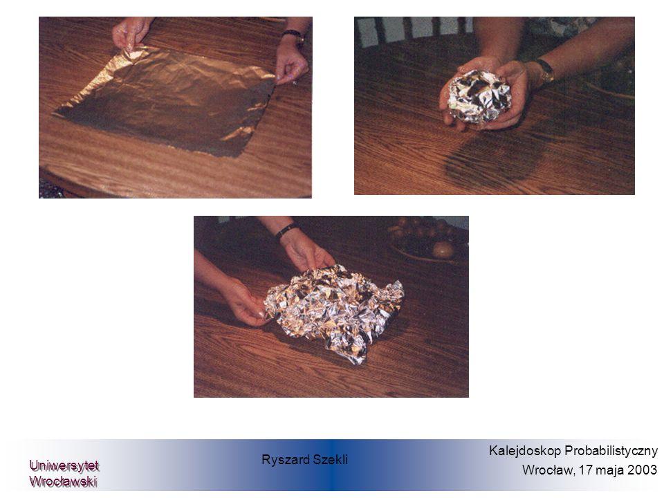 Ryszard Szekli Kalejdoskop Probabilistyczny Wrocław, 17 maja 2003 Uniwersytet Wrocławski