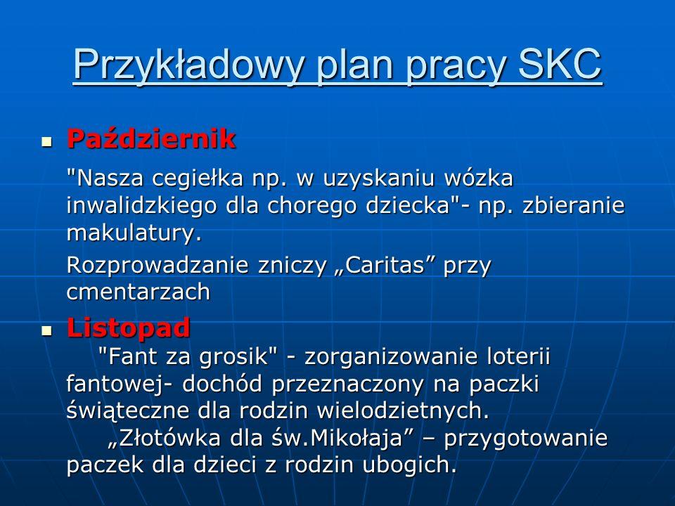 Przykładowy plan pracy SKC Październik Październik