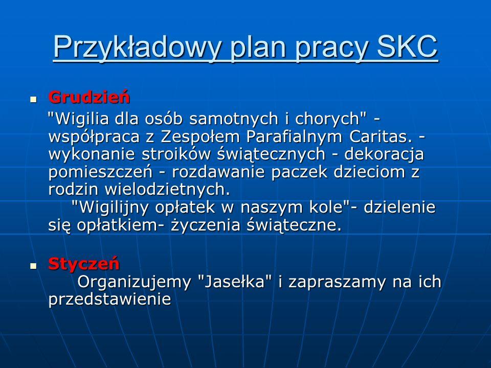 Przykładowy plan pracy SKC Grudzień Grudzień