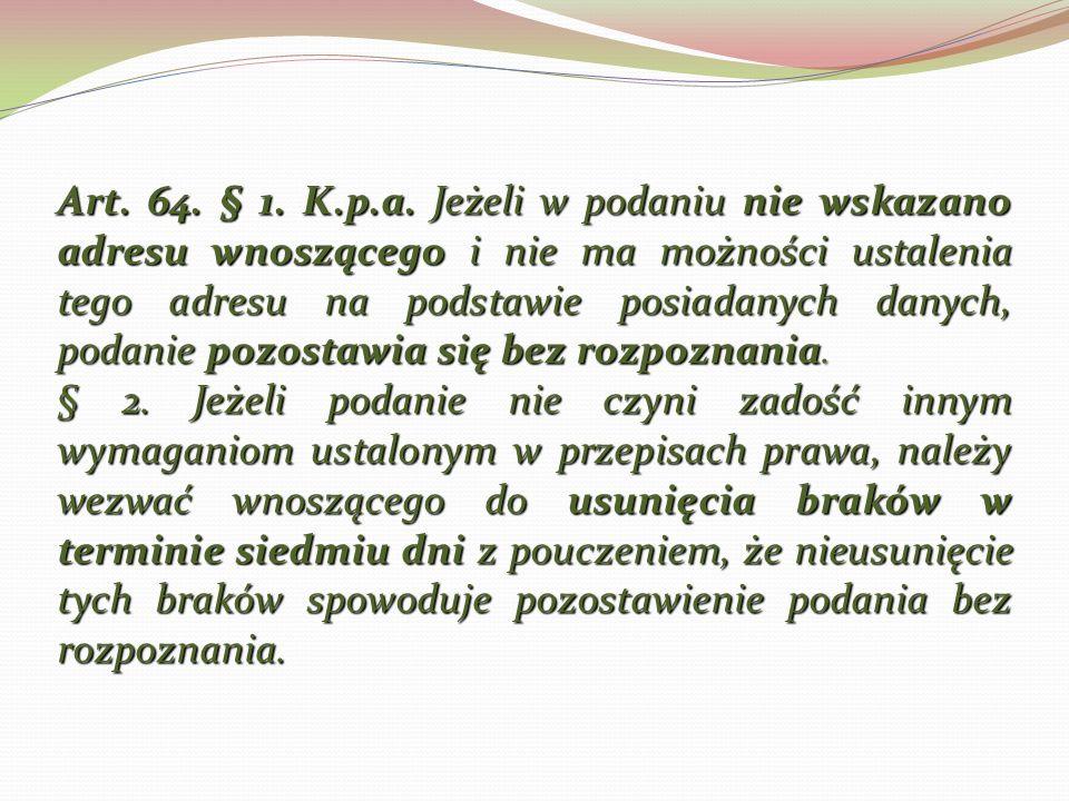 Art.64. § 1. K.p.a.