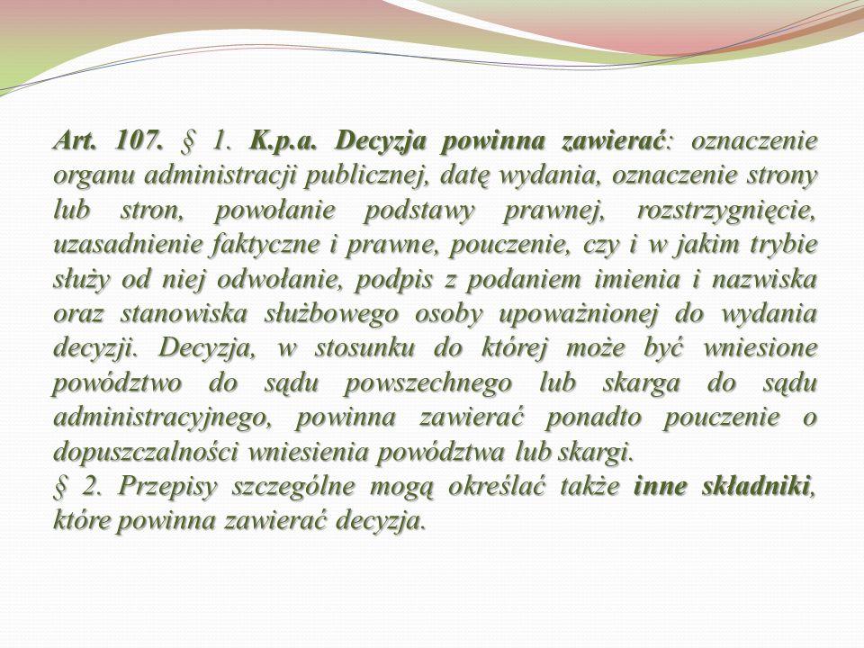 Art.107. § 1. K.p.a.