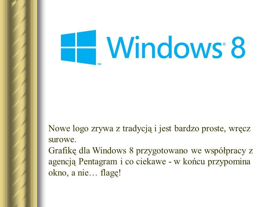 Nowe logo zrywa z tradycją i jest bardzo proste, wręcz surowe. Grafikę dla Windows 8 przygotowano we współpracy z agencją Pentagram i co ciekawe - w k