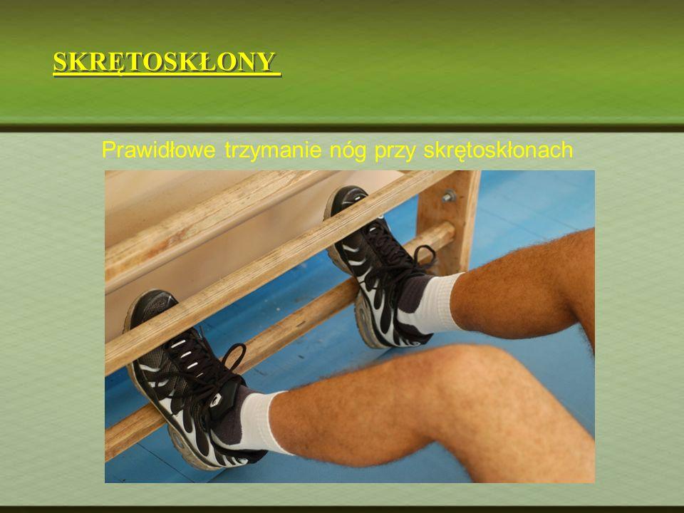 Prawidłowe trzymanie nóg przy skrętoskłonach