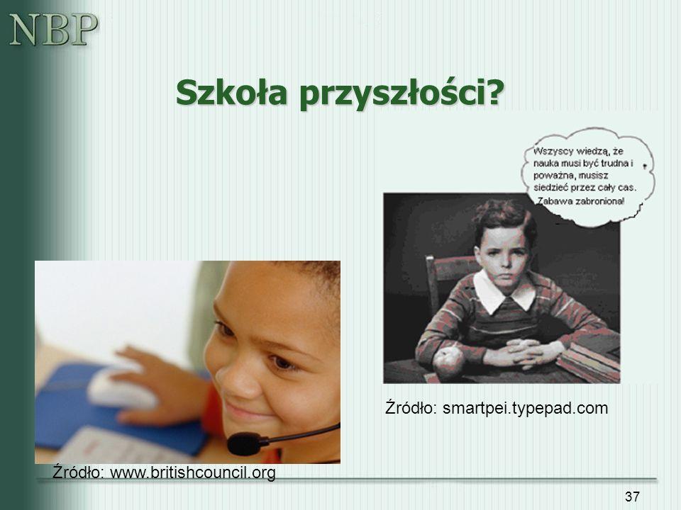 37 Szkoła przyszłości? Źródło: www.britishcouncil.org Źródło: smartpei.typepad.com