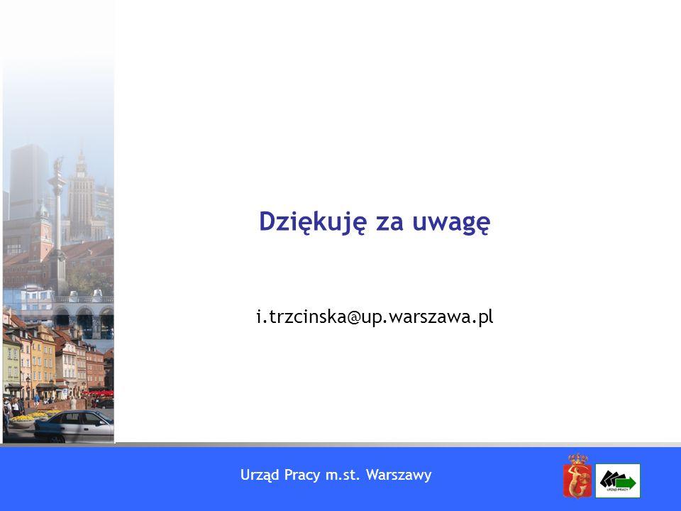 Urząd Pracy m.st. Warszawy Dziękuję za uwagę i.trzcinska@up.warszawa.pl