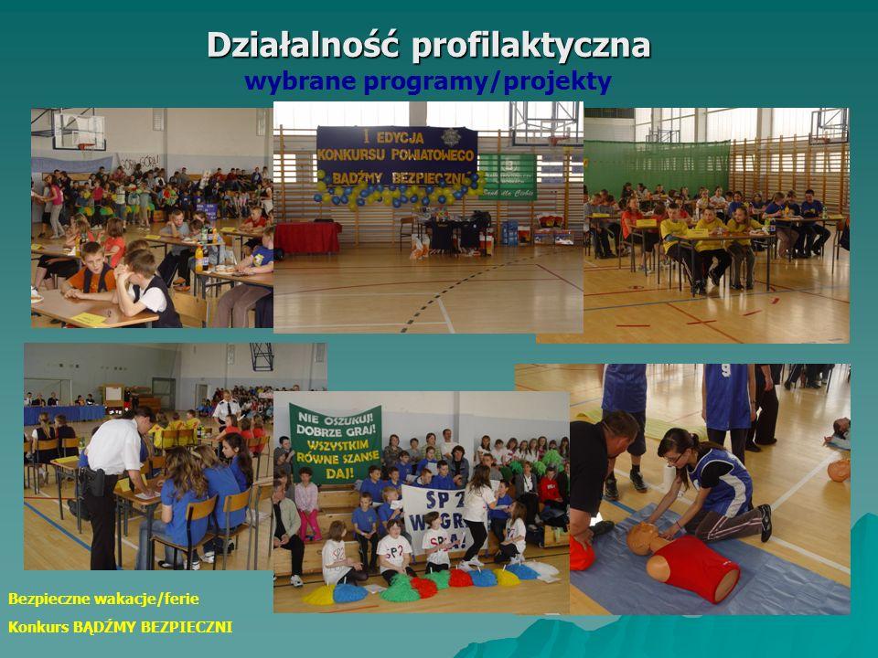 Działalność profilaktyczna Działalność profilaktyczna wybrane programy/projekty Bezpieczne pierwszaki